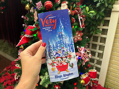 Disney Mickey's Very Merry Christmas Party 2019 Guide Map In Hand