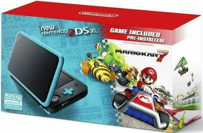 New Nintendo 2DS XL - Black + Turquoise With Mario Kart 7 Pre-installed