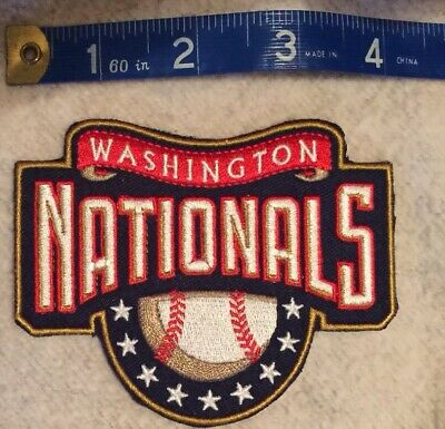 "Washington Nationals 3x4"" patch new World Series Champs Natitude 2019 free ship"