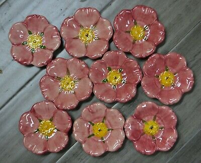 9 Franciscan china Desert Rose flower Butter Pats nut dishes  Excellent