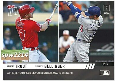 2019 Topps Now Mike Trout & Cody Bellinger #OS41 Silver Slugger Award Winners