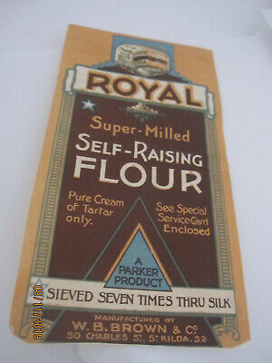 Royal Australian flour label 1930s by Brown and Co St.Kilda