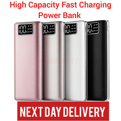 50000mAh Power Bank Fast Charger Dual USB Battery LCD Portable Phone Powerbank
