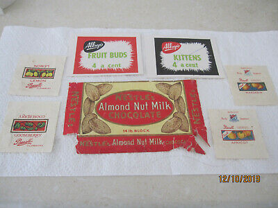 Vintage Aussie confectionery signs wrappers group lot