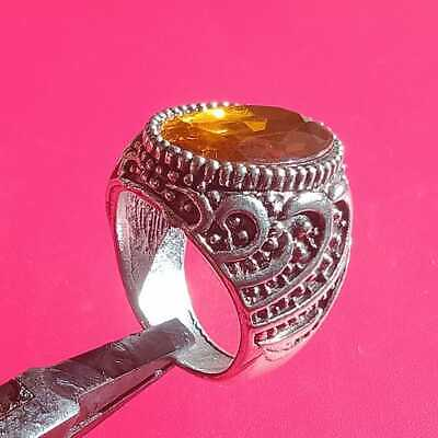 Rare Ancient ROMAN Ring With A Orange Color Stone Silver artifact Amazing Piece.