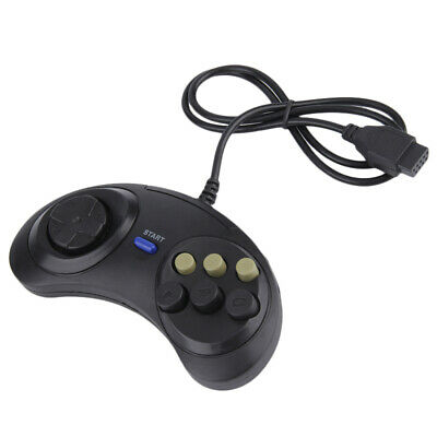 1X(Classic Retro 6 Buttons Wired Handle Game Controller Gamepad Joystick Jo A2Z8