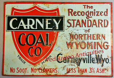 ***Carney Coal Company (Wyoming Ghost Town) Tin Advertising  c. 1920s