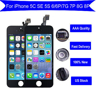 US For iPhone 5 5C 5S Touch Screen Digitizer +LCD Display Assembly Replacement #