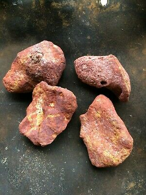 Four Large Solid Ochre's  : Aboriginal: