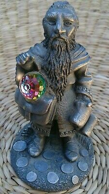 1991 LOTR Pewter & Crystal signed Dwarf THORIN FIGURE.UK.The Hobbit collection