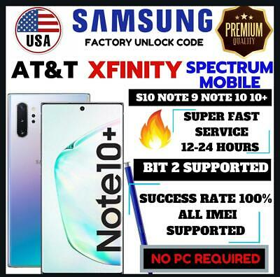 At&T Premium Factory Unlock Code Service Samsung Galaxy S10+ Note 10 Note 10+