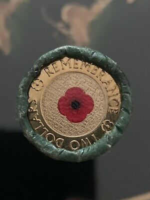 2012 Remembrance $2 Red Poppy Coin Roll.