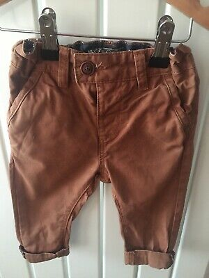 Baby Boy's Clothes 6-9 Mths - Tan Chino Style Trousers By NEXT Skinny Fit 🐌🐌