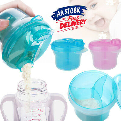 Avent Milk Container of Baby Snack Pot 3 Doses Dispenser Formula Storage Powder