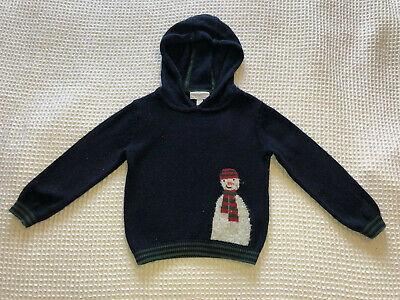 White Company Christmas Jumper Hoodie - Snowman - 2 3years Excellent Condition