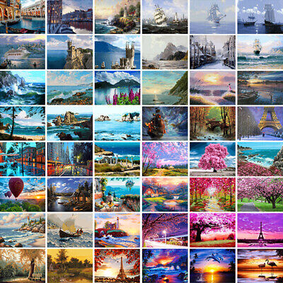 DIY Paint By Number Kit Digital Oil Painting Art Wall Home Decor Scenery 40*50cm
