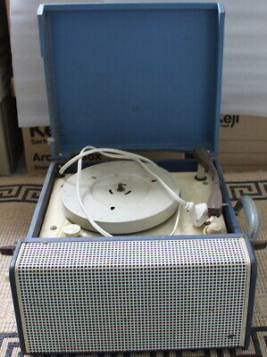 VINTAGE 1960's PORTABLE RECORD PLAYER  - For restoration or parts.