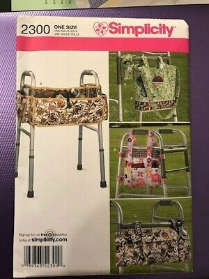 Simplicity Pattern 2300 Walking Zimmer Frame tidy / shopping Bags NEW