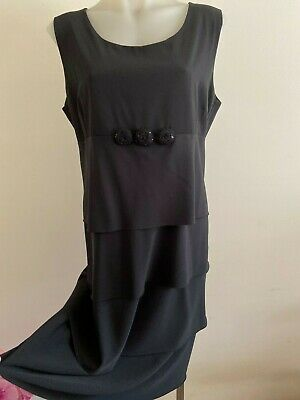 Made in Italy Dress Black Size EU 50 AU 16 As new Layers