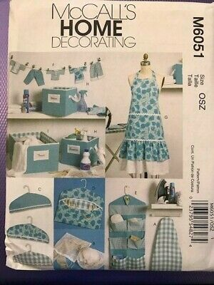 McCall's  Pattern M6051 Apron boxes kitchen tidy coat hanger  novelties  NEW