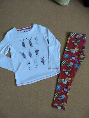 Next Winter Christmas Top And Leggings 8 years