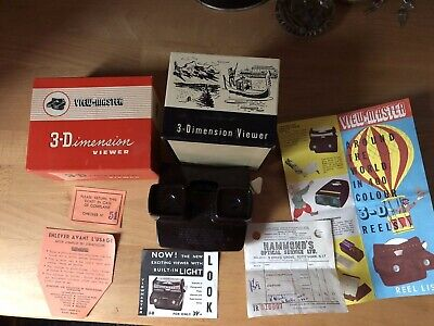 View-Master 3-Dimension Viewer Model E w/Box. Superb example.
