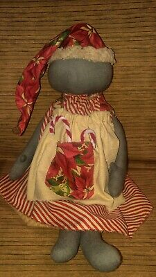 Primitive Decor Christmas black Doll Hand Crafted 21 Inches