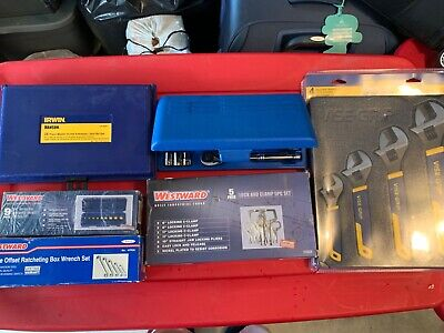Tool lot mechanical electrical plumbing hvac wrench extractor clamp socket