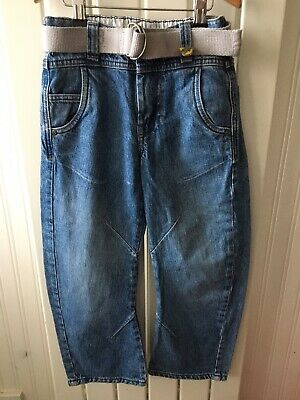 Little Boy's Adjustable Waistband Tapered Leg NEXT Jeans 6 Years With Belt