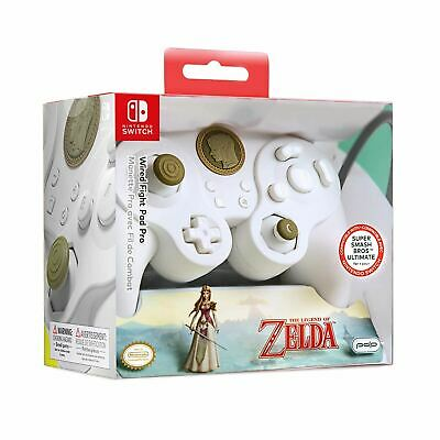 Pdp Nintendo Switch Fight Pad Pro Zelda Link (White) Controller For Switch
