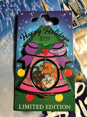 Disney Parks Happy Holidays 2019 Port Orleans Resort Aristocats Pin LE In Hand