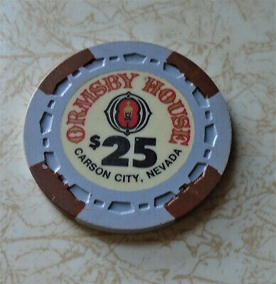 Obsolete, Early Ormsby House, Carson City $25.00 Casino Chip