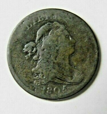 1805 Bust Half Cent Medium Brown Chocolate Color Fine Condition