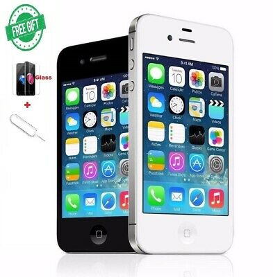 Apple iPhone 4 - White / Black (Unlocked) A1332 (GSM) + Free Gifts !!