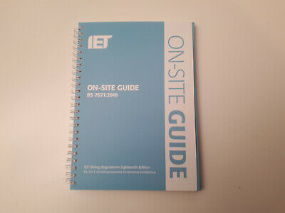 New - IET On Site Guide for Wiring Regulations 18th Edition 2018 BS7671:2018