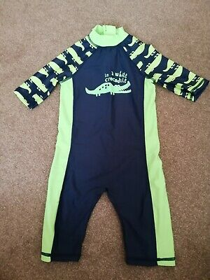 Mothercare Baby Boys Crocodile Swimsuit Age 12-18 Months