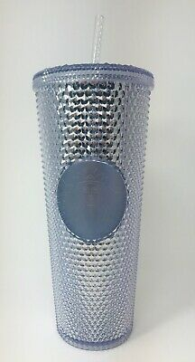 NEW Winter Holiday Starbucks 2019 Venti Silver Platinum Studded Tumbler 24oz