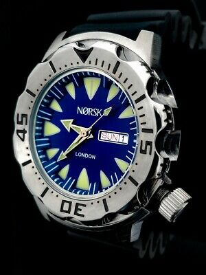 Sea Monster Watch; Norsk - (London medalists) - Diver - Citizen Movt- Blue