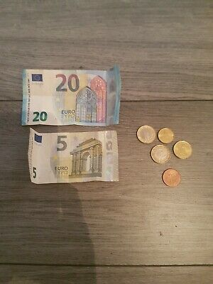 euros left over holiday money £27.35