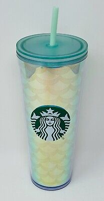 Starbucks 2019 Winter Holiday Venti Neon Pink Studded Acrylic Tumbler Cup HTF