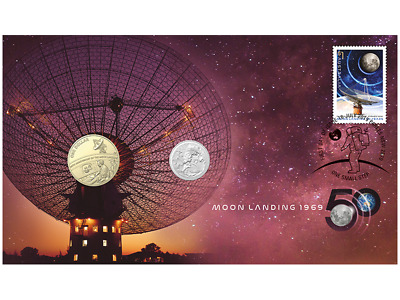 2019 Royal Australian Mint - Moon Landing: 50 Years PNC - Stamp & Coin Cover