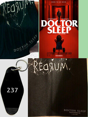 Doctor Sleep Stephen King Movie Shining REDRUM Poster Blanket KeyChain Mouse Pad