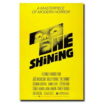 19F18 The Shining 1980 Old Horror Movie-Art Silk Cloth Wall Poster