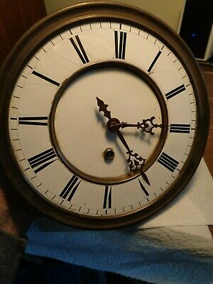 Antique-One Weight Vienna Regulator Clock Movement-Ca.1890-To Restore-#K12A