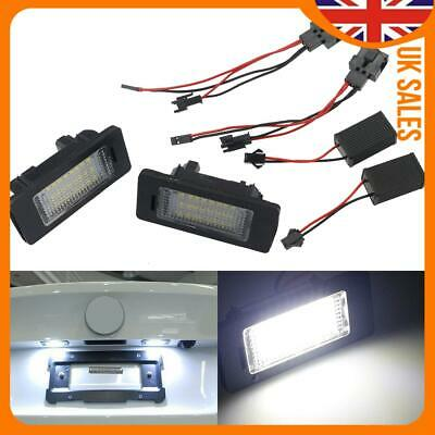 2x LED Number License Plate Light Lamp SMD Canbus For Audi A3 S3 A4 A6 B6 B7 Q7