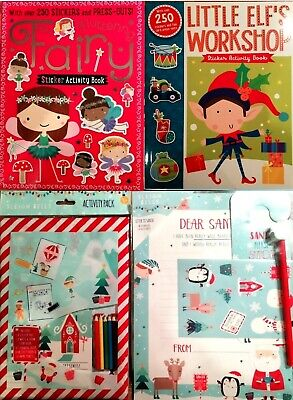 Childrens Christmas Activity Pack-Letter to Santa-Colouring Book-Sticker Set
