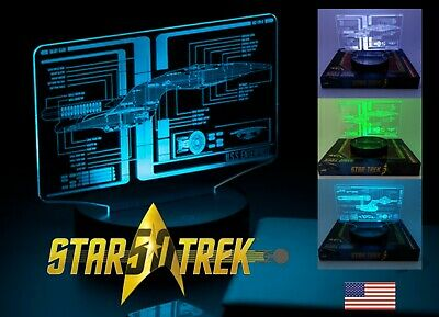 Star Trek Display LED TOS and TNG Schematic Illuminated Light Multicolored