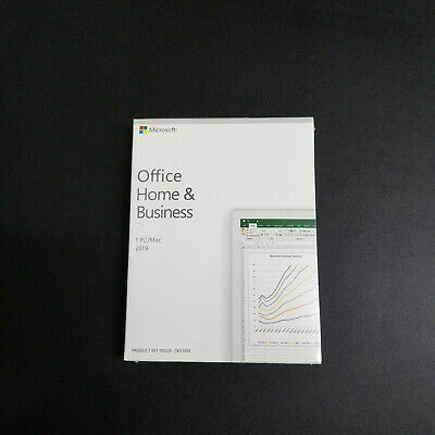 Microsoft Office 2019 Home and Business for 1 Mac Product Key Card Retail