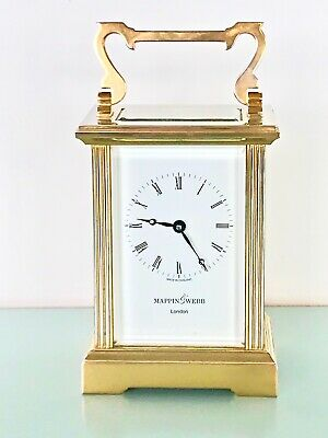 11 jewels 'L'Epée 1839' English Mappin&Webb 20th Century Brass Carriage Clock