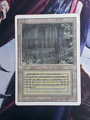 1x Bayou - Revised MTG FREE SHIPPING damage edge
